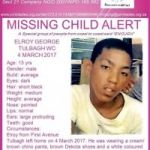 Missing Persons: Elroy George Tulbagh Western Cape