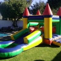 3x6m Kids Jumping Castle with slide and pond for hire Kenilworth